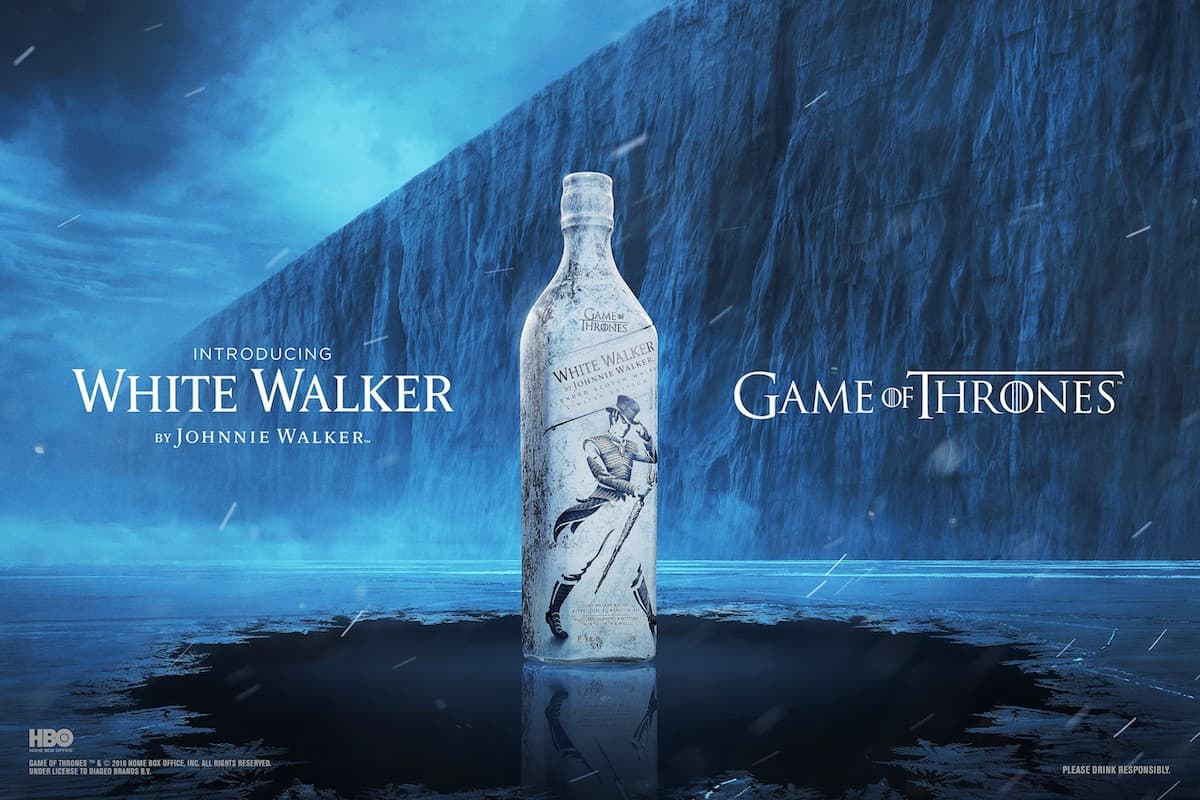 Johnnie Walker goes white